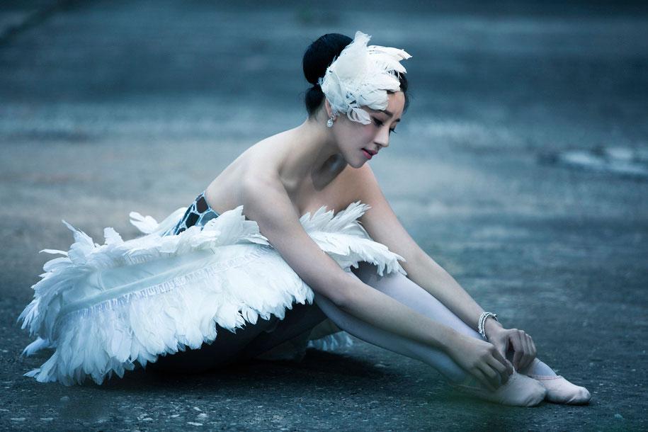 唯美性感写真天鹅之梦