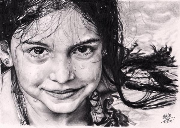 David Chong铅笔肖像画作品欣赏