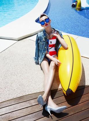 模特Georgiana 演绎《Elle》时尚杂志罗马尼亚摄影大片