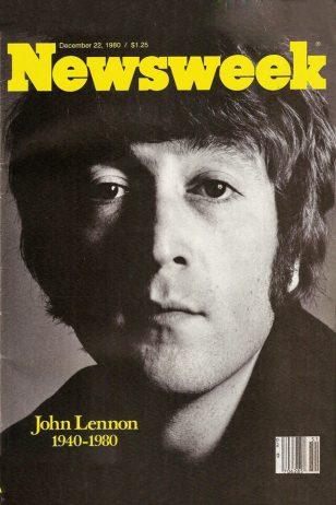 Lennon on Newsweek - 1980年12月8日列侬遇刺后,《Newsweek》将他的肖像作为封面