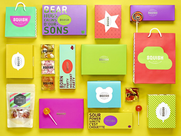 Squish Candies糖果包装和店面设计