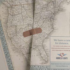 Healed Maps - 美国 Miracle 航空公司广告:治愈距离