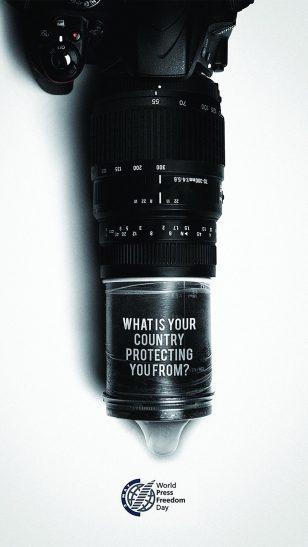 World Press Freedom Day - 世界新闻自由日(5月3日)宣传广告