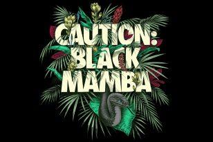 """KOBE BRYANT """"CAUTION BLACK MAMBA"""" NIKE"""