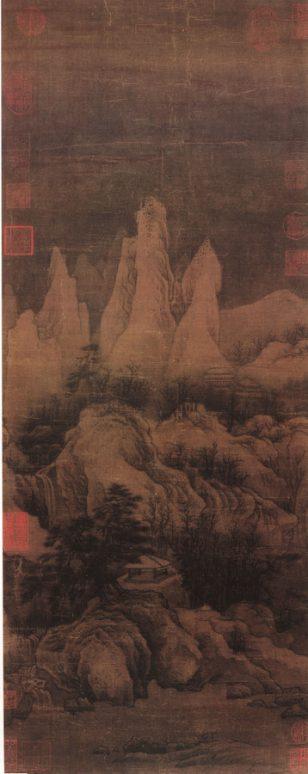 《群峰霁雪图》