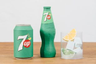 Paper Art Still Life Chain Reaction for 7UP