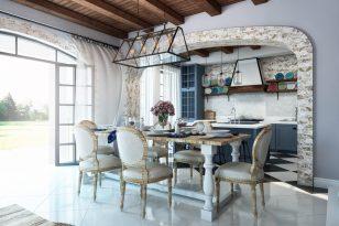 Private house interior, modern mediterranean