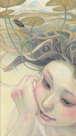 Miho Hirano - 日本插画师平野実穂油画作品:春