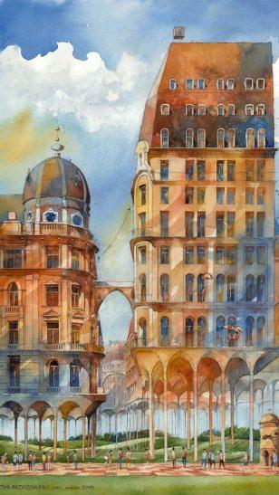 Tytus Brzozowski - 俄罗斯插画师 Tytus Brzozowski 建筑系列水彩画作品