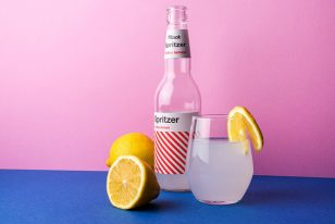 Spritzer柠檬伏特加瓶贴包装设计欣赏