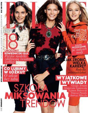 milia Nawarecka, Maja Salamon and Karolina Waz Are Jet Setters for Elle Poland's November Cover Sho