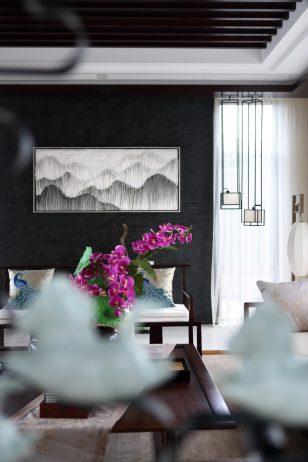 海南诺德·丽湖半岛一期B1别墅–新中式