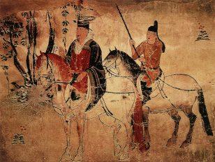 骑马人物图