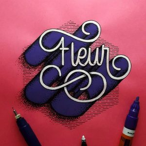 Guillermo风格手绘立体字作品