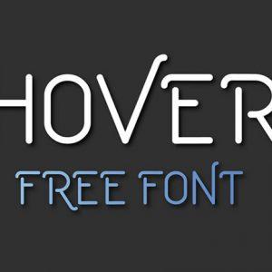 简约美观Hover英文字体设计