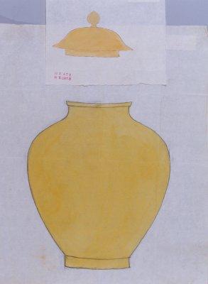 黄地素瓷罐图样