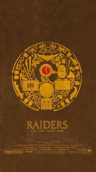 Raiders of the Lost Ark - Maxime Pecourt 设计的电影海报系列之《夺宝奇兵》