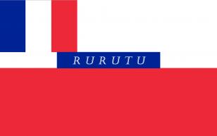 法国殖民地旗帜《法属波利尼西亚的 Rurutu 法国保护国的旗帜(1858-1889)》