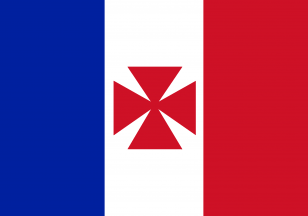 法国殖民地旗帜《法国瓦利斯和富图纳保护区(Uvea)的旗帜(1860-1886)》