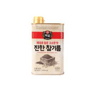 韩国希杰CJ白雪进口芝麻油香油食用油凉拌菜调味料无添加500ml
