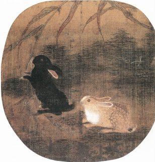 双兔图 佚名