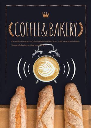 小麦面包海报PSD素材