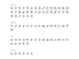 icons pro 图标集 18个分类250+图标 .sketch .ai .svg素材下载