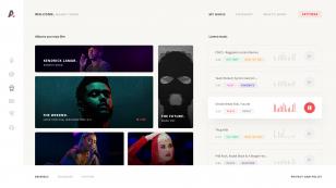 Async music 网页模板 .psd素材下载