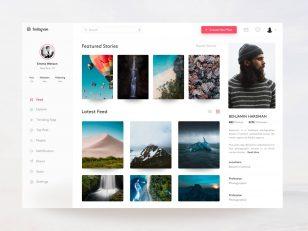 Instagram Profile Concept for Web .psd下载