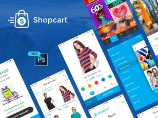 电商app shop cart 整体UI .psd素材下载