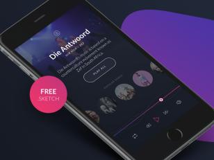 Artist Profile Music Player sketch素材下载