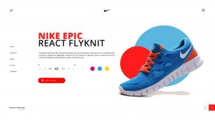 Nike Shoes Landing Page 动效 .psd & .ai下载