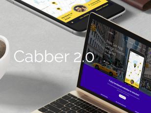 Cabber V2.0 app UI & 网页模板 psd下载