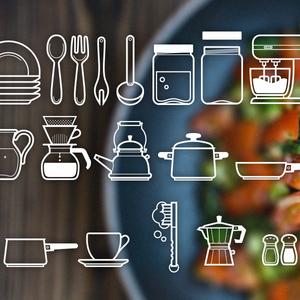 厨房用品图标psd下载