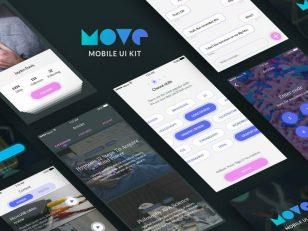 Move iOS UI Kit Sketch 素材下载