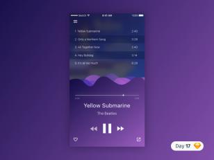 Music Player UI .sketch素材下载