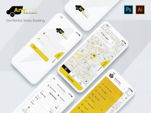 Taxi (cab) Booking .psd素材下载