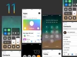 iOS 11 Small GUI sketch下载