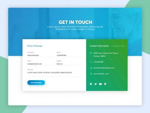 联系方式网页模板 UI .psd下载