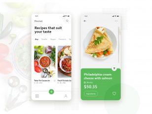 美食食谱 外卖app ui .xd素材下载