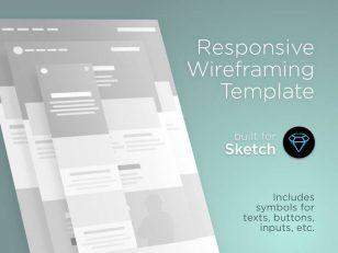 响应式网页设计 sketch线框模板下载