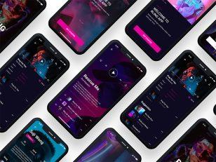 RLING 音乐app ui .fig素材下载