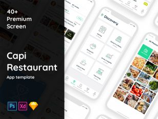 餐厅、饮食app ui capi .sketch .xd .psd素材下载