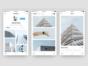 Unsplash – Photo App Concept