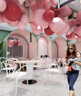 索迪斯唯品会总部餐厅-女性员工专区