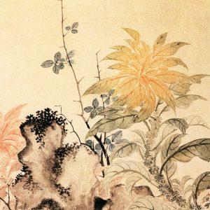 《写生花卉竹石图》恽寿平