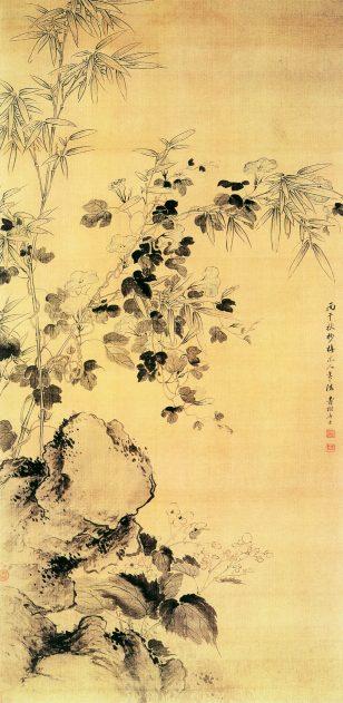 《海棠牵牛图》 蒋廷锡