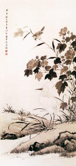《芙蓉鹭鸶图》 蒋廷锡