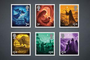 英国皇家邮政推出由查理·史密斯(Charlie Smith Design)设计的2019年圣诞节邮票