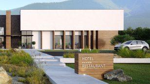 几何块体形成的现代旅馆设计,餐旅合一,满足旅客的需求